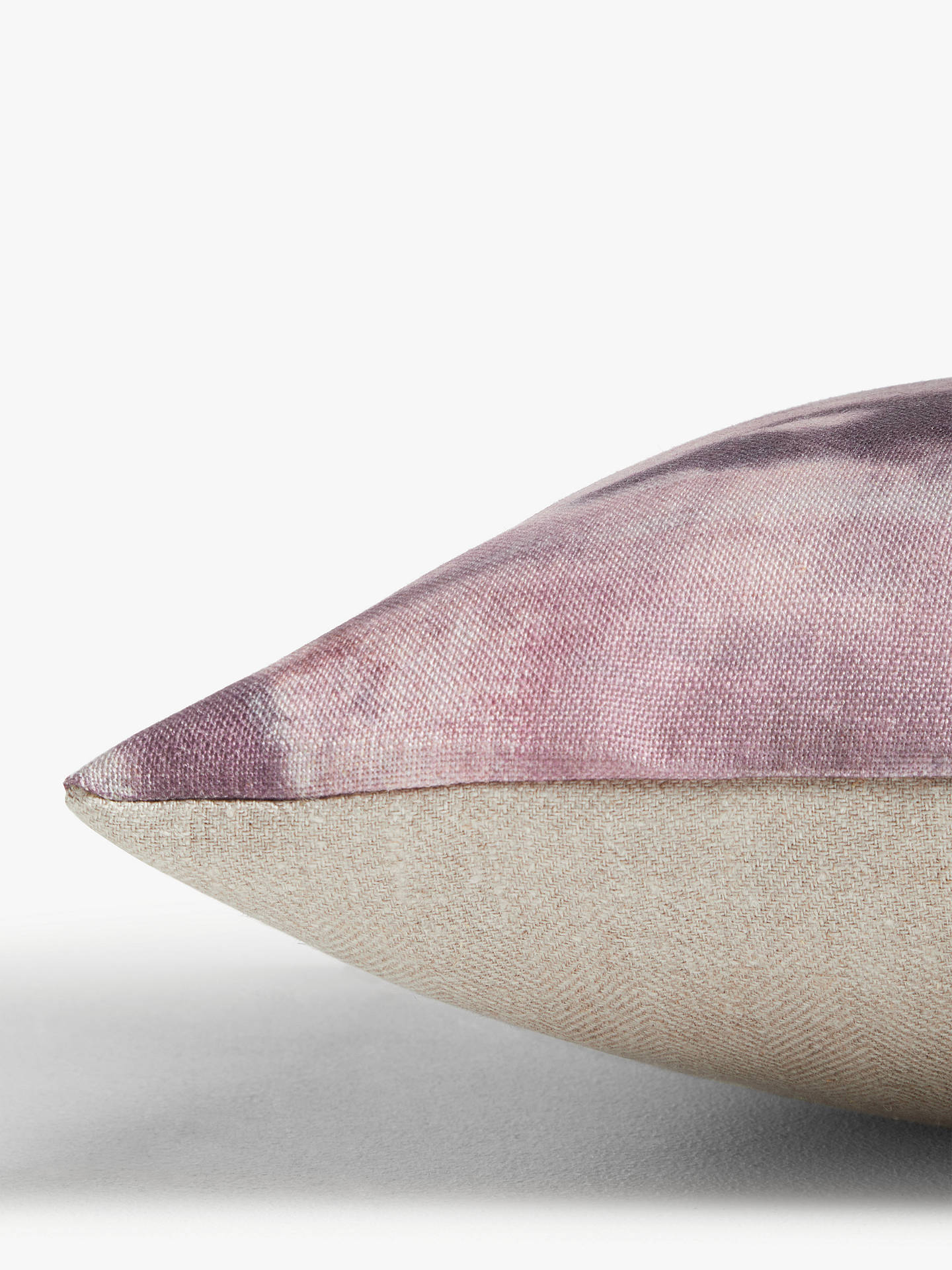 Buy Croft Collection Evening Shadow Cushion, Plum Online at johnlewis.com