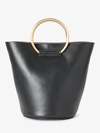 Modern Rarity Jeanne Leather Mini Hoop Bucket Bag