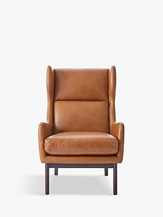 west elm Ryder Leather Armchair, Saddle Leather