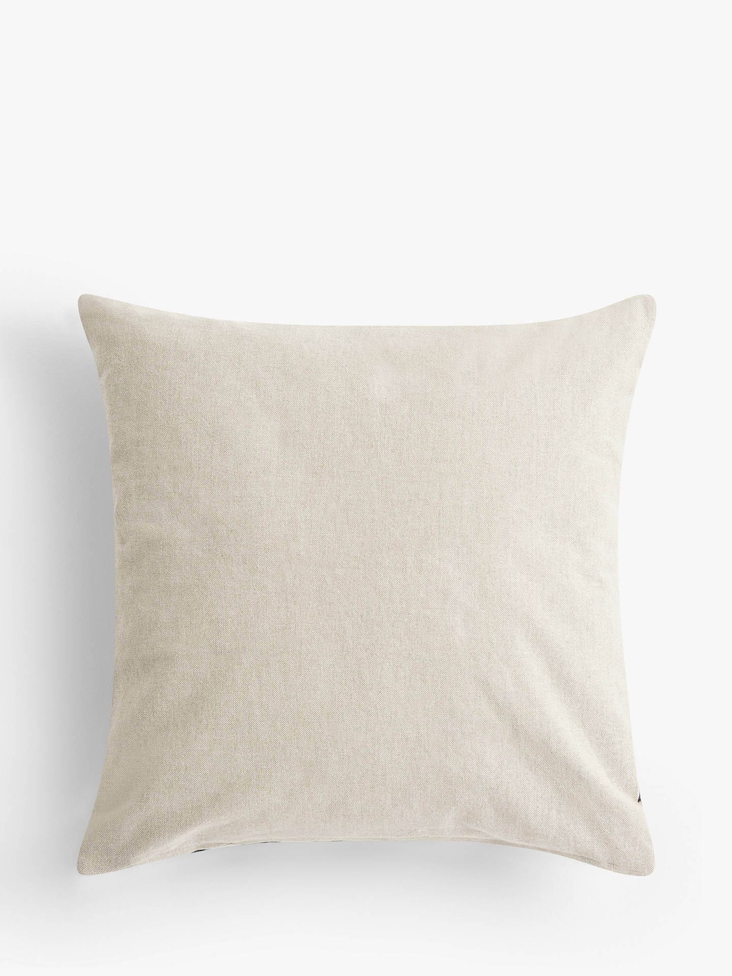 Buy John Lewis & Partners Eave Embroidery Cushion, Navy / Grey Online at johnlewis.com