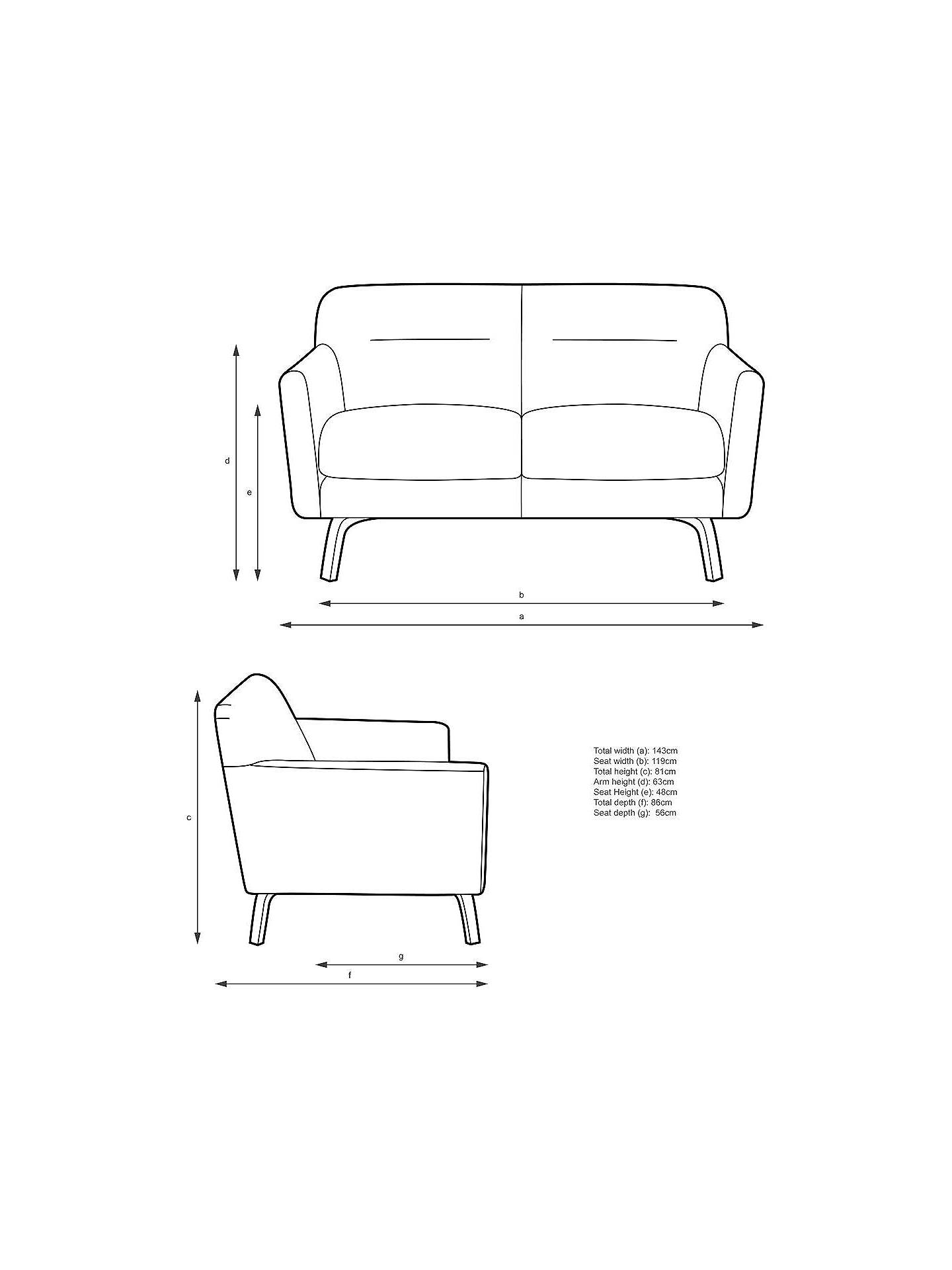Wondrous House By John Lewis Archie Ii Small 2 Seater Sofa Light Leg Pabps2019 Chair Design Images Pabps2019Com