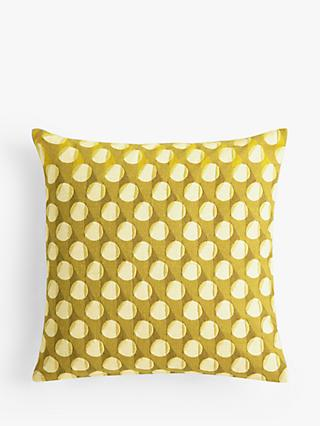 John Lewis & Partners Eave Embroidery Cushion, Citrine