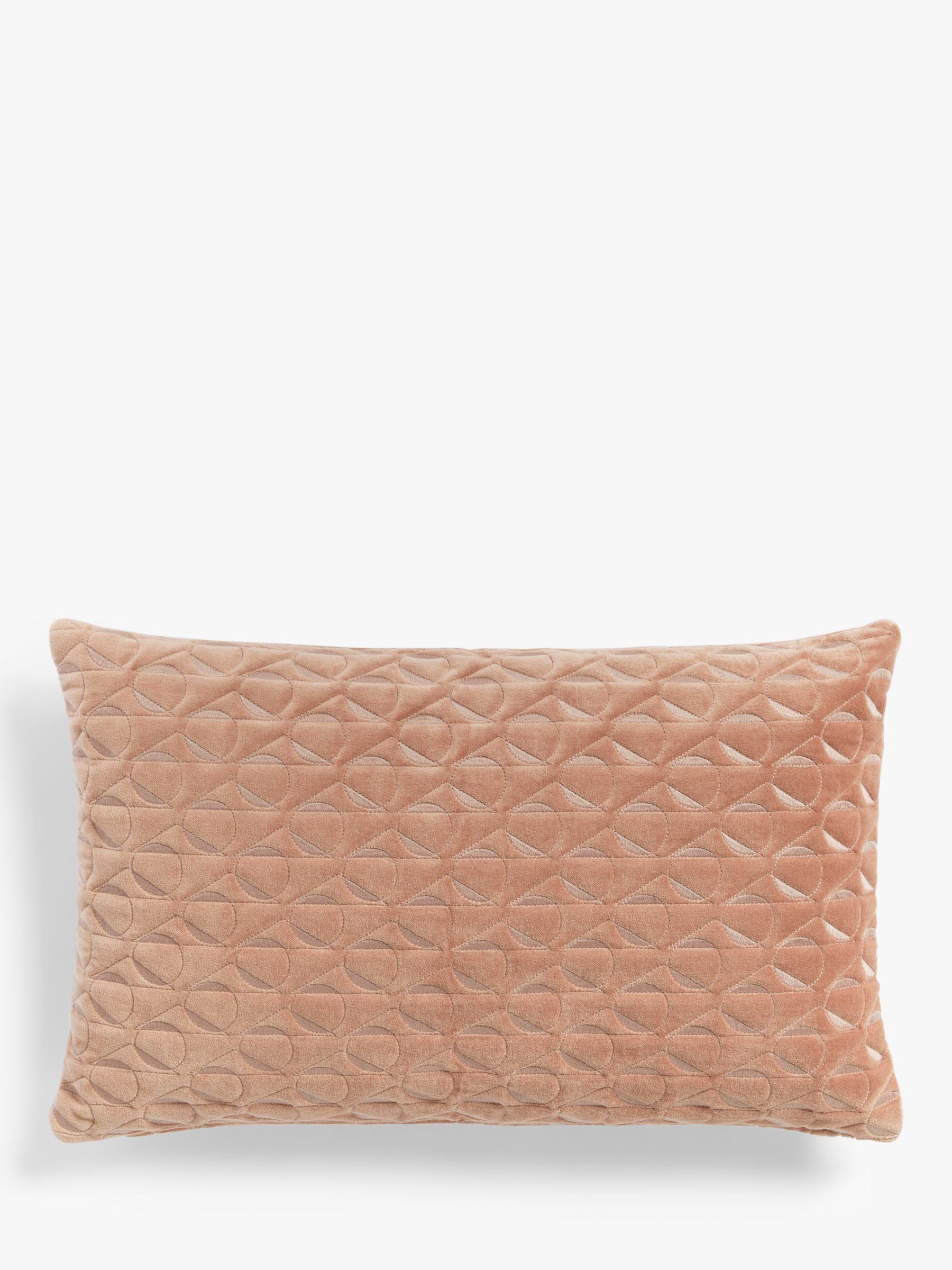John Lewis Velvet Geometric Pillow