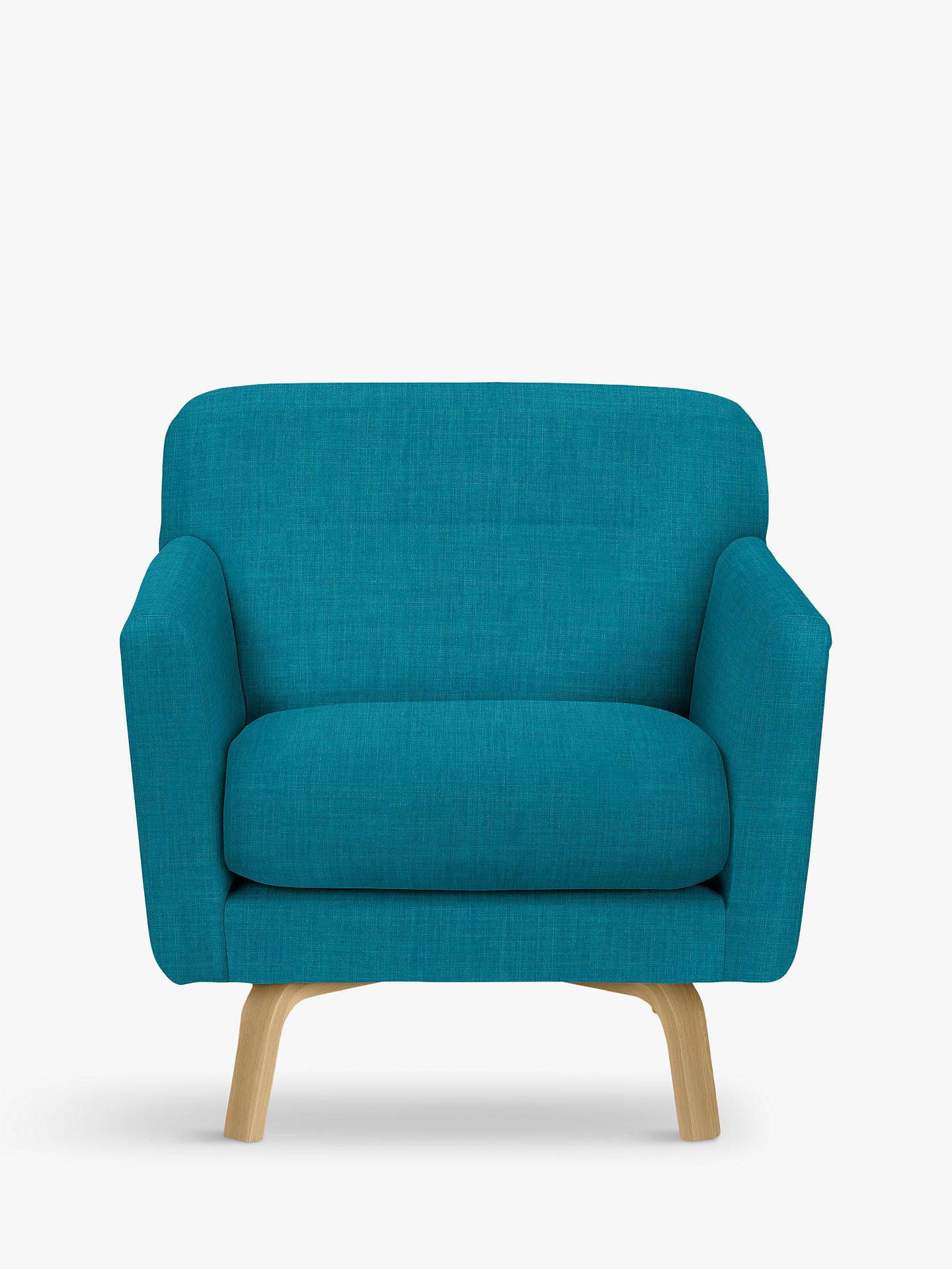 Buy House by John Lewis Archie II Armchair, Light Leg, Fraser Teal Online at johnlewis.com