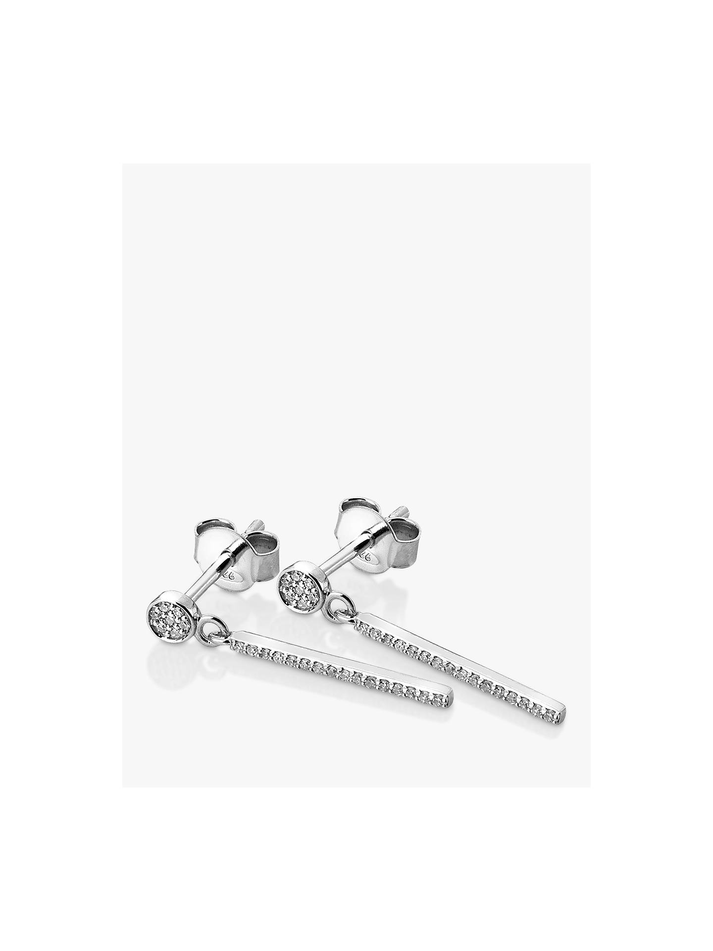 7aec297e3d0 Buy Hot Diamonds Tranquillity 9ct White Gold Diamond Drop Earrings Online  at johnlewis.com ...