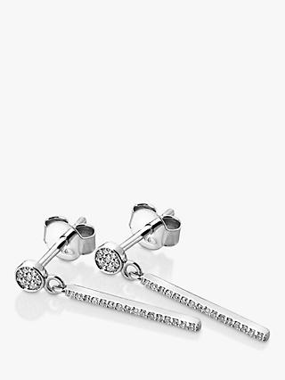 Hot Diamonds Tranquillity 9ct White Gold Diamond Drop Earrings