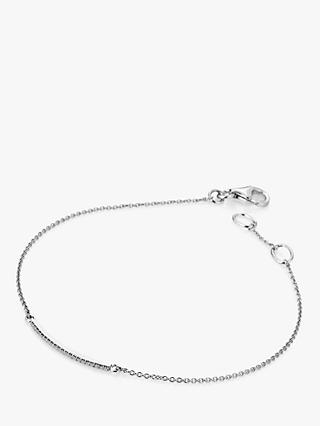 Hot Diamonds Tranquillity 9ct White Gold Diamond Chain Bracelet, Silver