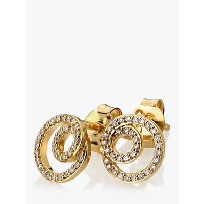 Hot Diamonds 9ct Gold Diamond Flow Stud Earrings