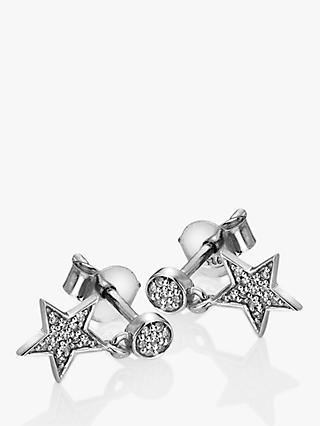 Hot Diamonds Glint 9ct White Gold Star Drop Earrings