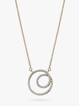 Hot Diamonds 9ct Gold Diamond Flow Pendant Necklace