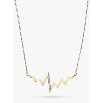 Hot Diamonds 9ct Gold Diamond Beat Pendant Necklace