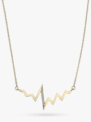 Hot Diamonds 9ct Gold Diamond Beat Pendant Necklace