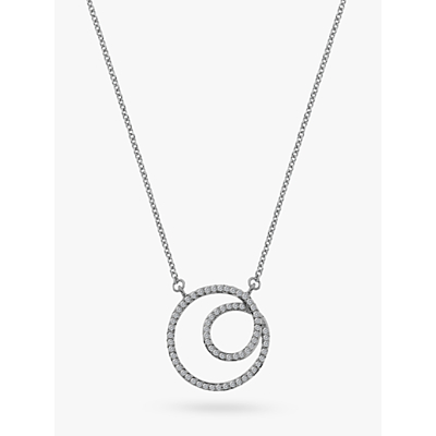 Image of  			   			  			   			  Hot Diamonds 9ct Gold Diamond Flow Pendant Necklace