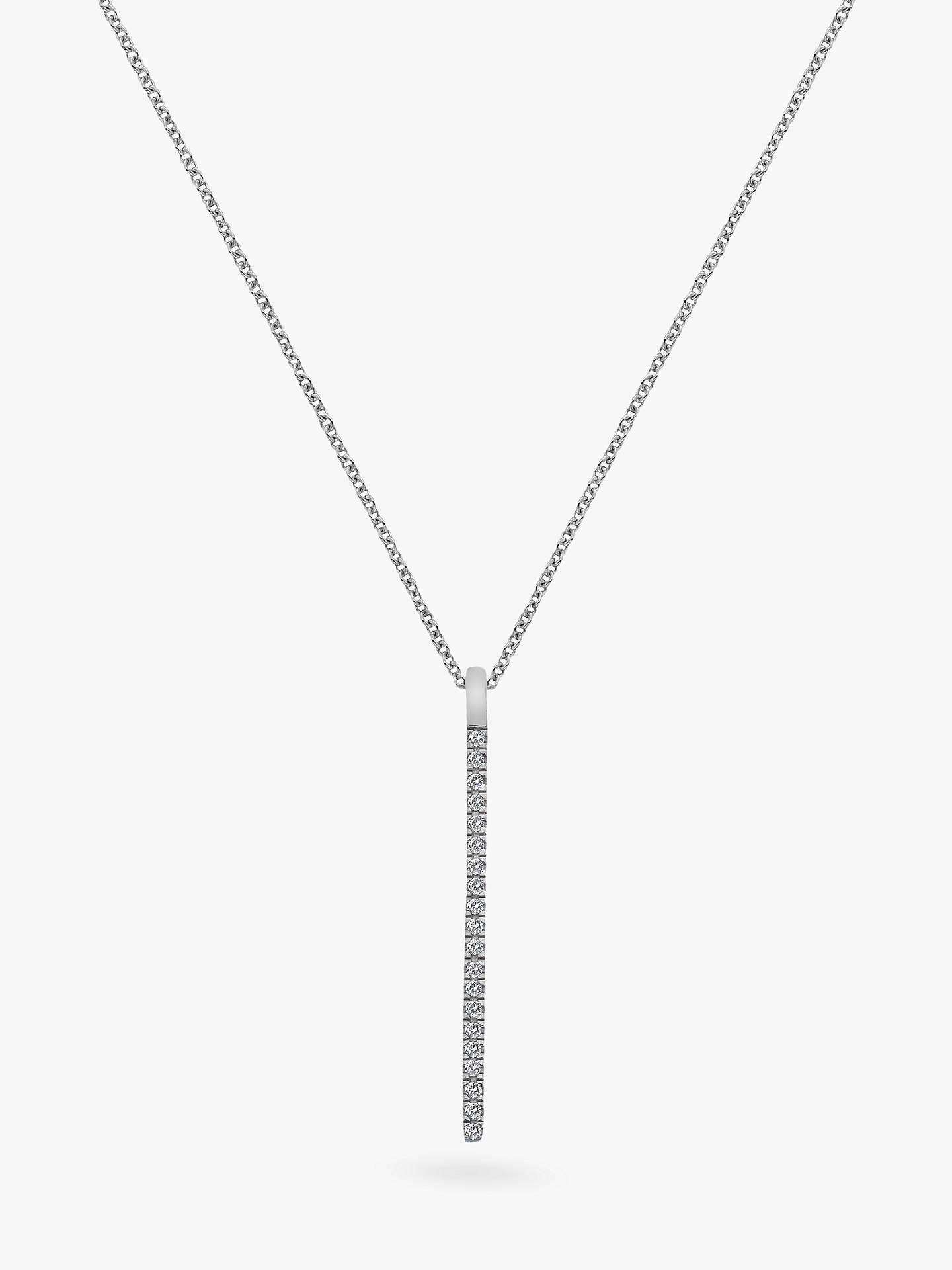 b9e5821d5ed4c Hot Diamonds 9ct White Gold Diamond Tranquillity Pendant Necklace