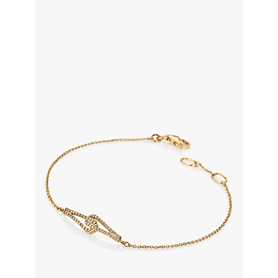 Hot Diamonds 9ct Gold Diamond Flow Chain Bracelet