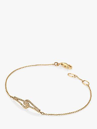 Hot Diamonds 9ct Gold Diamond Flow Chain Bracelet