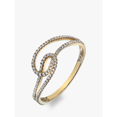 Image of Hot Diamonds 9ct Gold Diamond Flow Ring