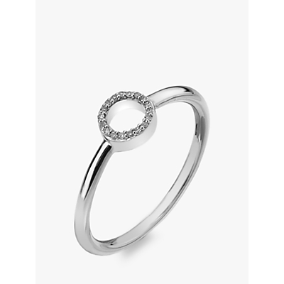 Image of Hot Diamonds 9ct White Gold Diamond Infinity Ring