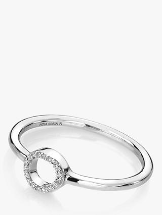 Hot Diamonds 9ct White Gold Diamond Infinity Ring