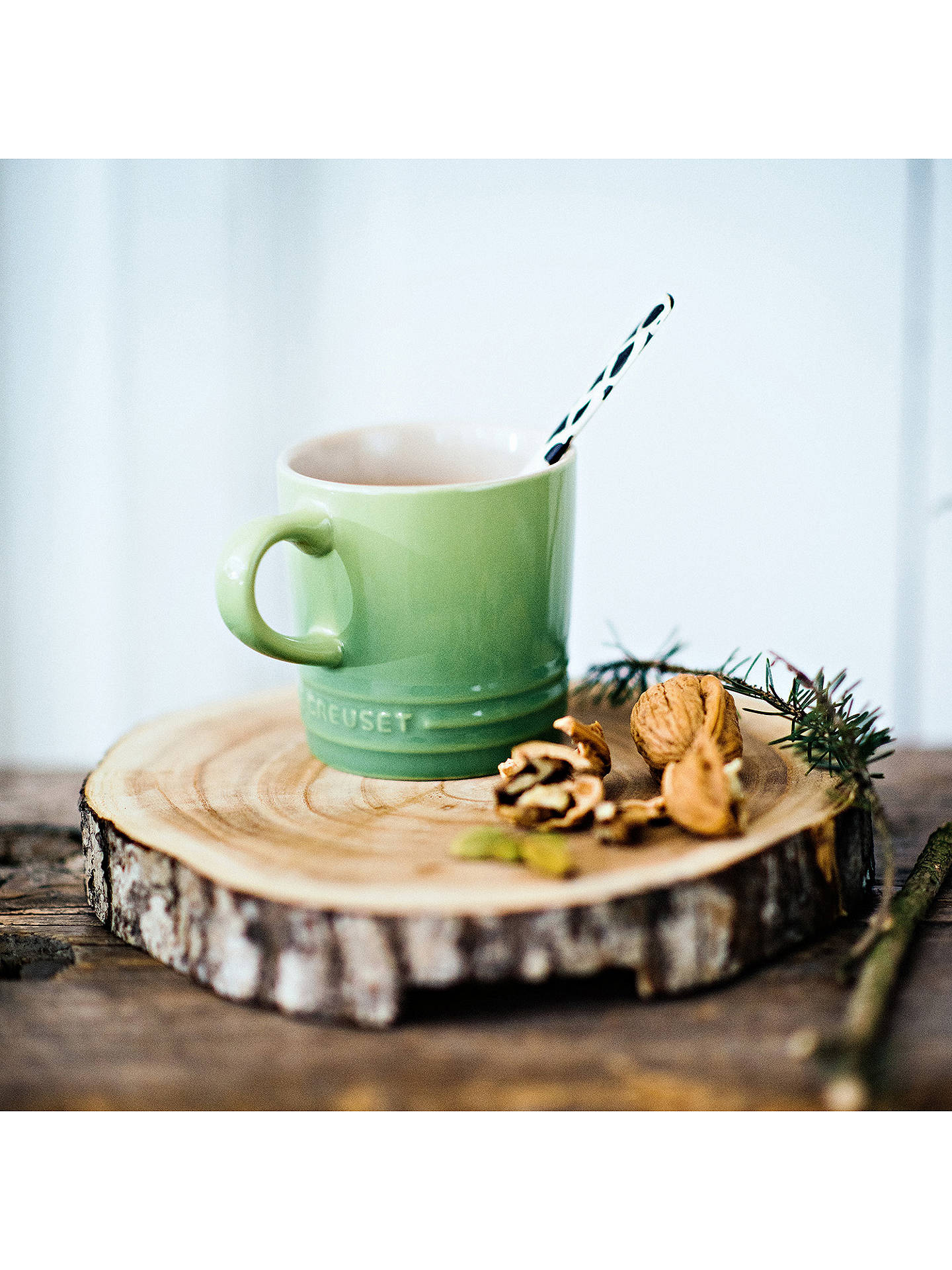 Buy Le Creuset Stoneware Espresso Mug, 100ml, Rosemary Online at johnlewis.com