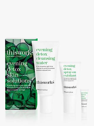 This Works Evening Detox Skin Solutions Set