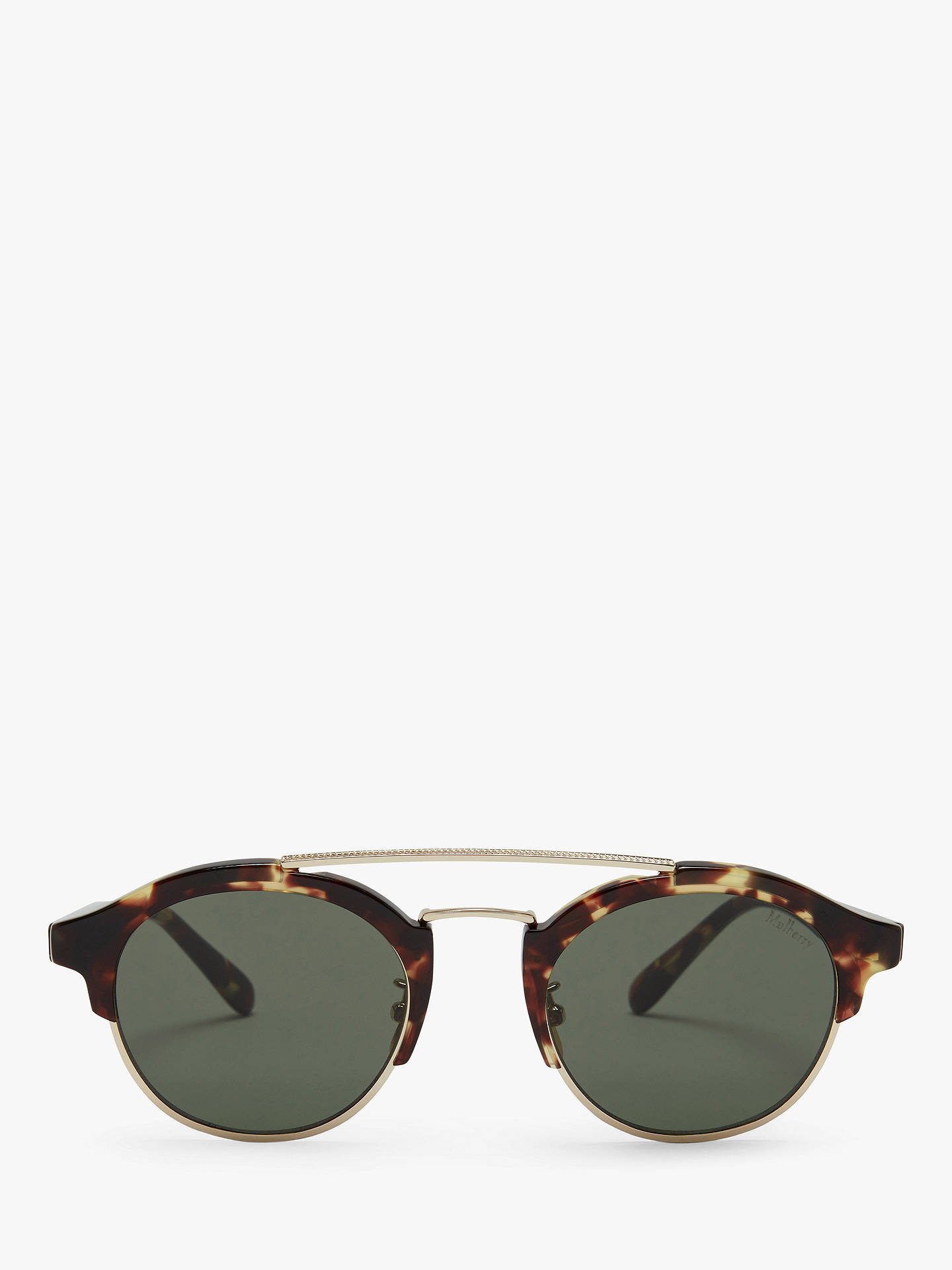 e75bd47f0092 Buy Mulberry Women's Enyd Round Sunglasses, Tortoise/Green Online at  johnlewis. ...