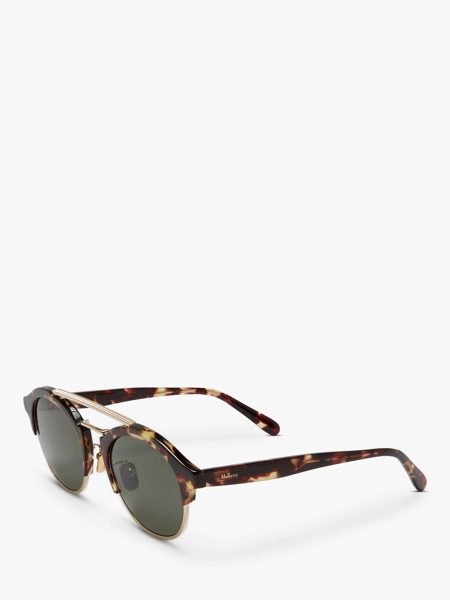 60eab48b0379 ... Buy Mulberry Women's Enyd Round Sunglasses, Tortoise/Green Online at  johnlewis. ...
