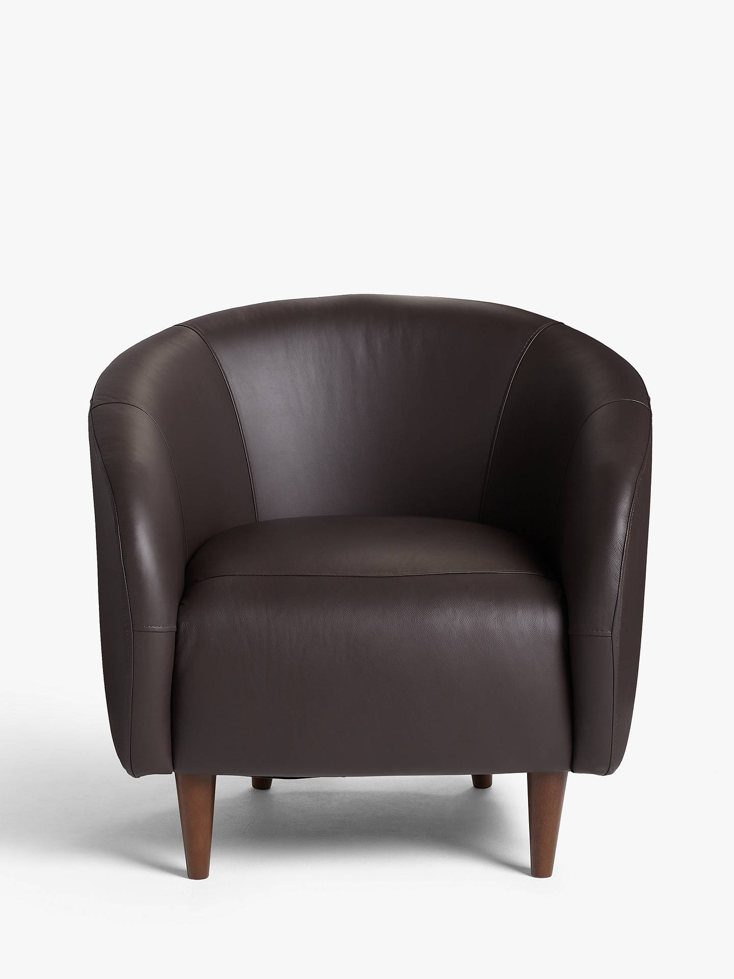 Buy House by John Lewis Scoop Leather Armchair, Dark Leg, Contempo Dark Chocolate Online at johnlewis.com