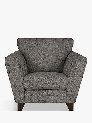 John Lewis & Partners Oslo Armchair, Dark Leg, Riley Steel Grey