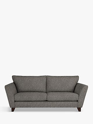 John Lewis & Partners Oslo Large 3 Seater Sofa, Dark Leg, Riley Steel Grey