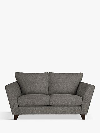 John Lewis Partners Oslo Small 2 Seater Sofa Dark Leg Riley Steel Grey