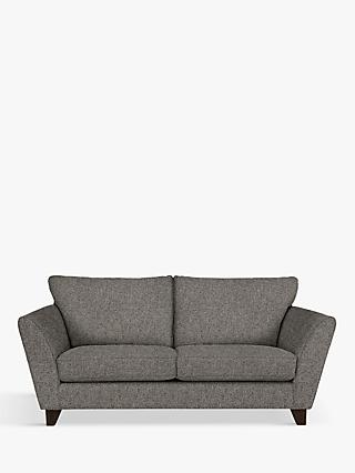 John Lewis & Partners Oslo Medium 2 Seater Sofa, Dark Leg, Riley Steel Grey