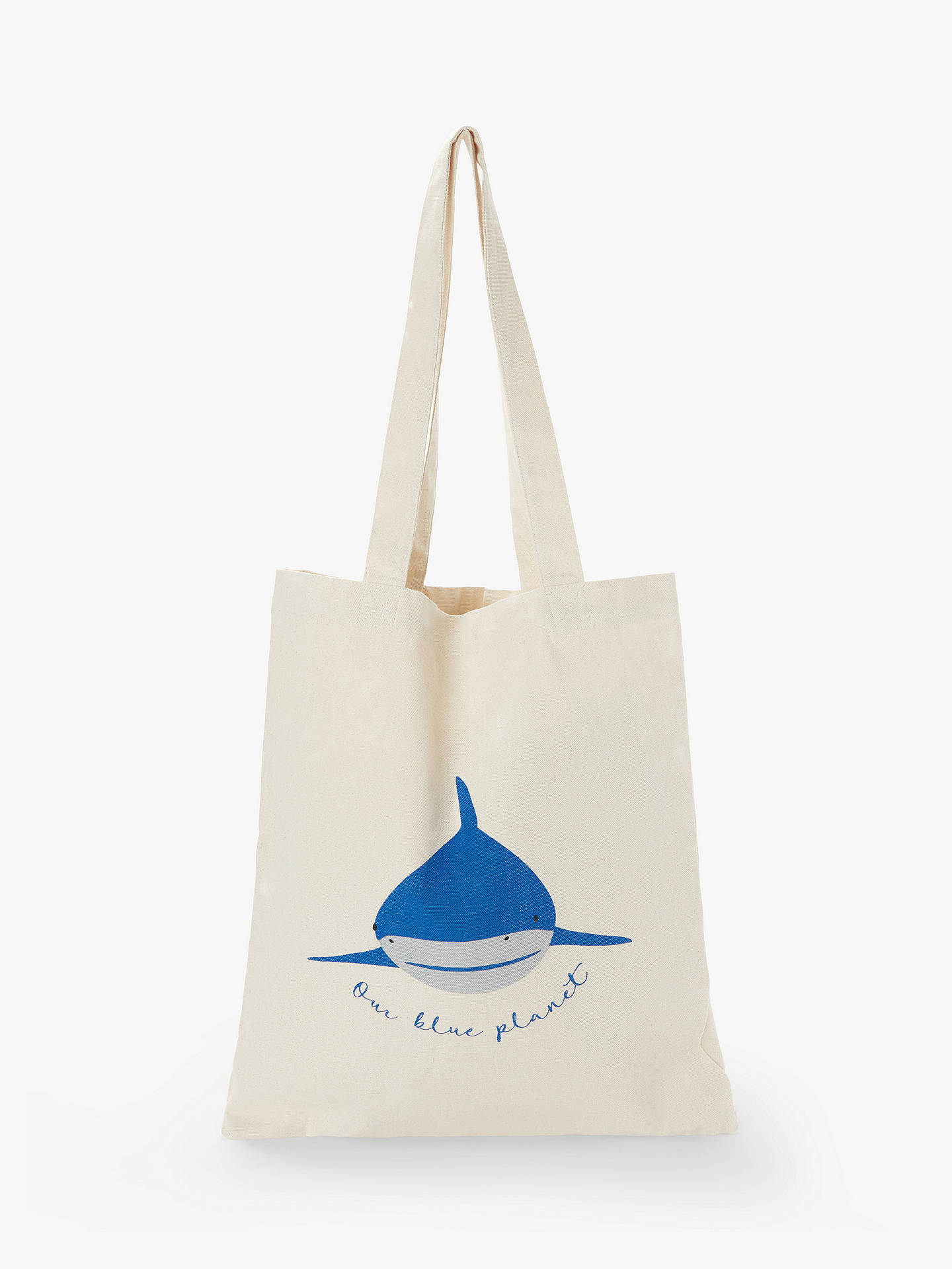 People Tree X Bbc Earth Our Blue Planet Shark Shopping Bag White