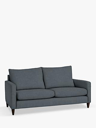 John Lewis & Partners Bailey High Back Large 3 Seater Sofa, Dark Leg, Hatton Steel