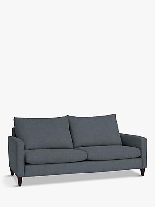 John Lewis & Partners Bailey High Back Grand 4 Seater Sofa, Dark Leg, Hatton Steel