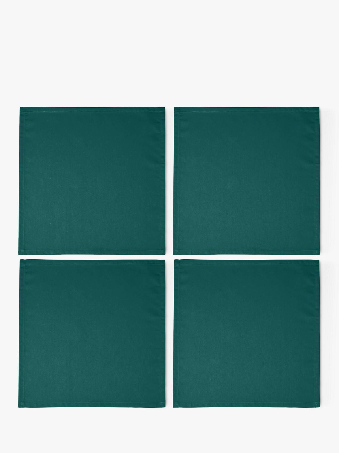 John Lewis & Partners Mezzo Napkins, Set Of 4, Green by John Lewis & Partners
