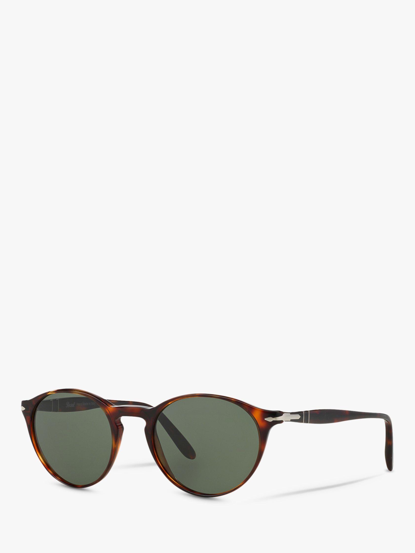Persol Persol PO3092SM Men's Oval Sunglasses, Tortoise/Green