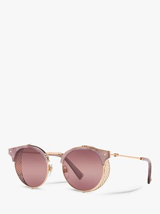 Valentino VA2008Z Women's Oval Sunglasses, Rose Gold/Pink Gradient