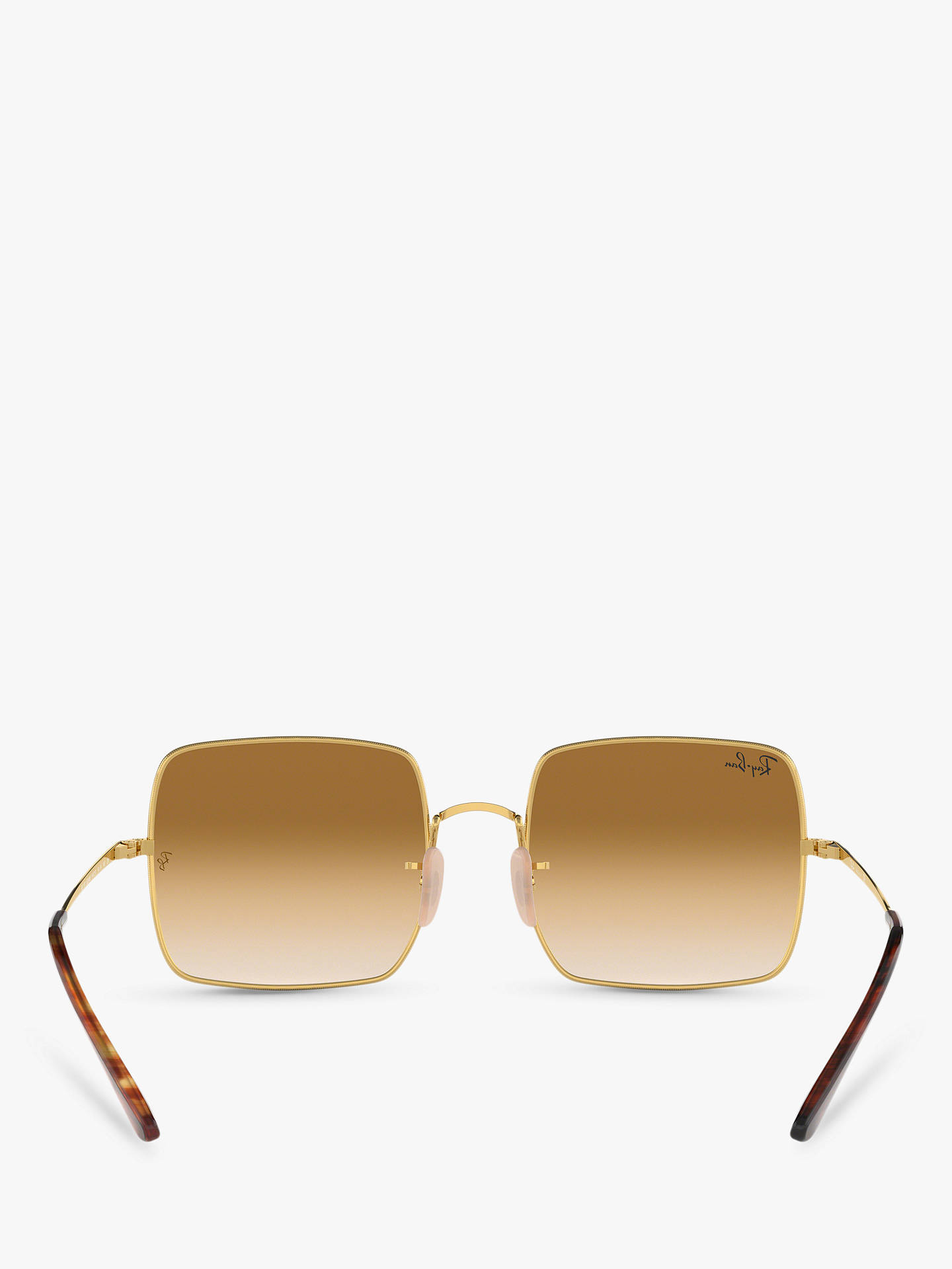 f08b4fbac ... Buy Ray-Ban RB1971 Unisex Square Sunglasses, Gold/Brown Gradient Online  at johnlewis ...