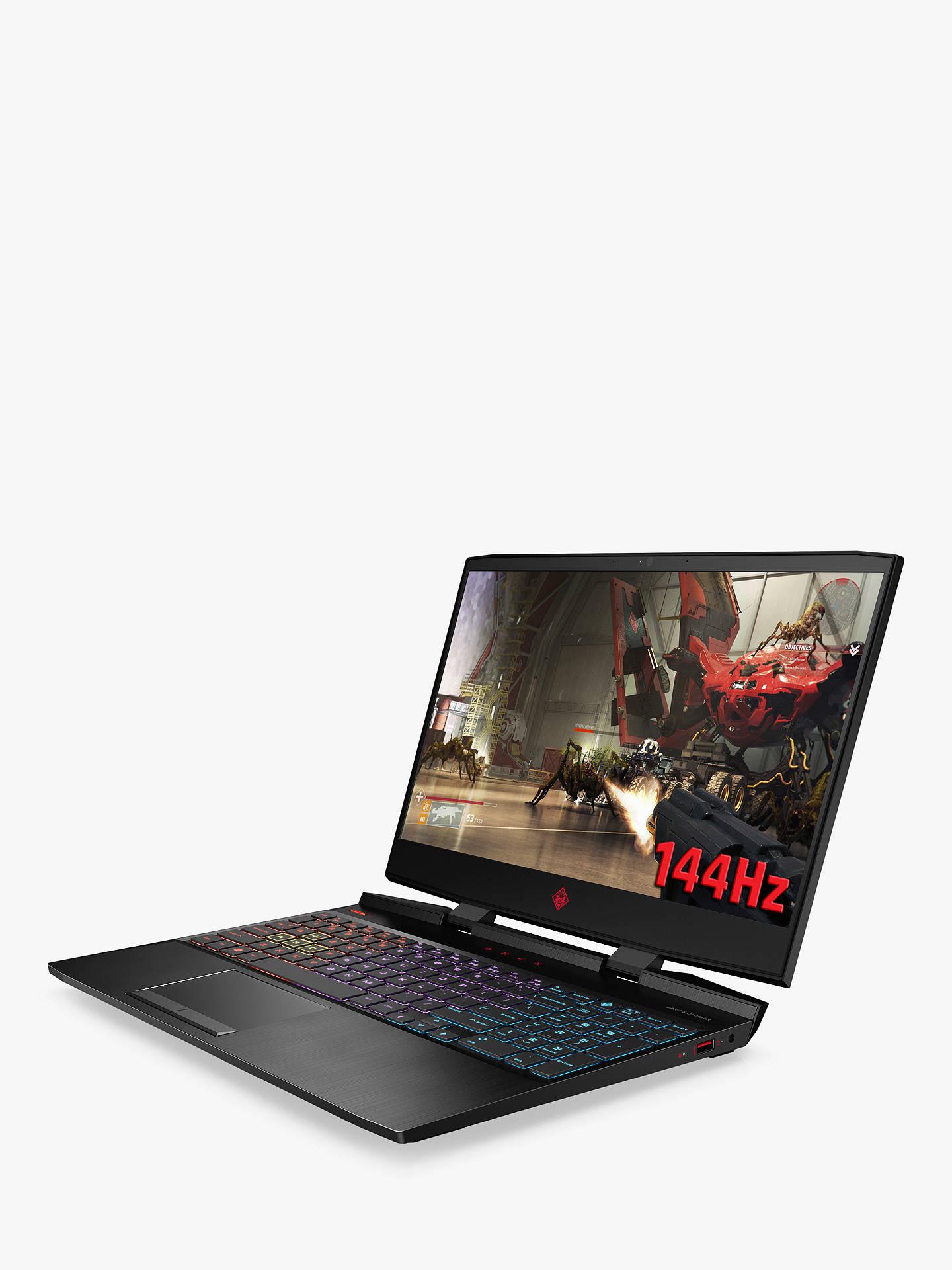 "HP OMEN 15-dc1011na Gaming Laptop, Intel Core i7 Processor, 16GB RAM, 1TB  HDD + 256GB SSD, GeForce RTX 2070, 15 6"" Full HD, Shadow Black"
