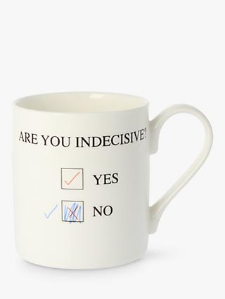 McLaggan Smith 'Are You Indecisive' Mug, White/Multi, 350ml