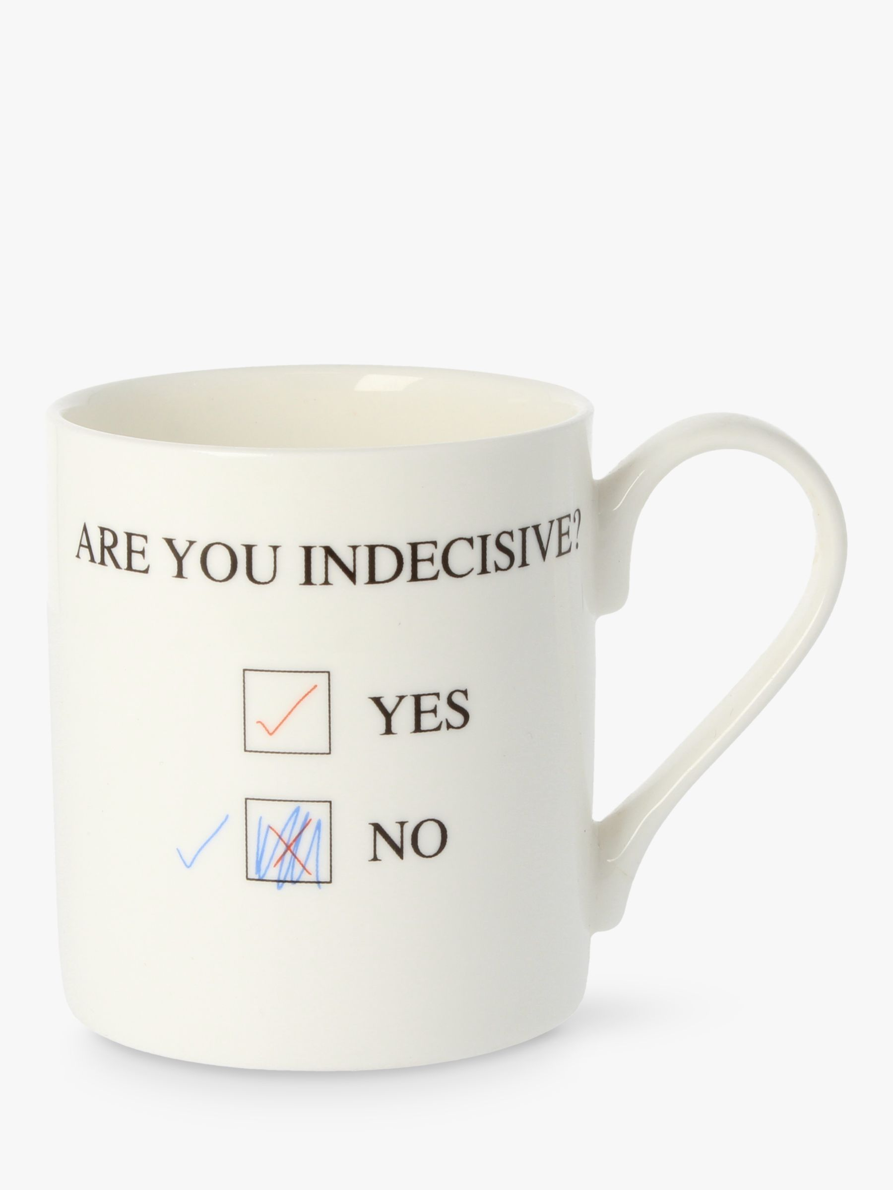 McLaggan Smith McLaggan Smith 'Are You Indecisive' Mug, White/Multi, 350ml