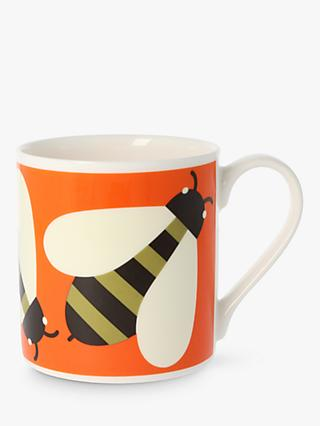 Orla Kiely Bee Mug, 350ml, Orange/Multi