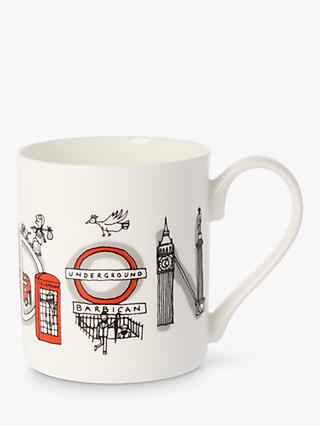 McLaggan Smith London Mug, 300ml, White/Multi