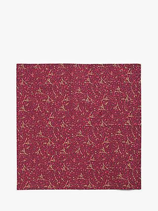 John Lewis & Partners Cranberries Napkins, Set of 4, Red