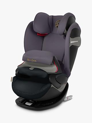 Cybex Pallas S-Fix Group 1/2/3 Car Seat, Premium Black