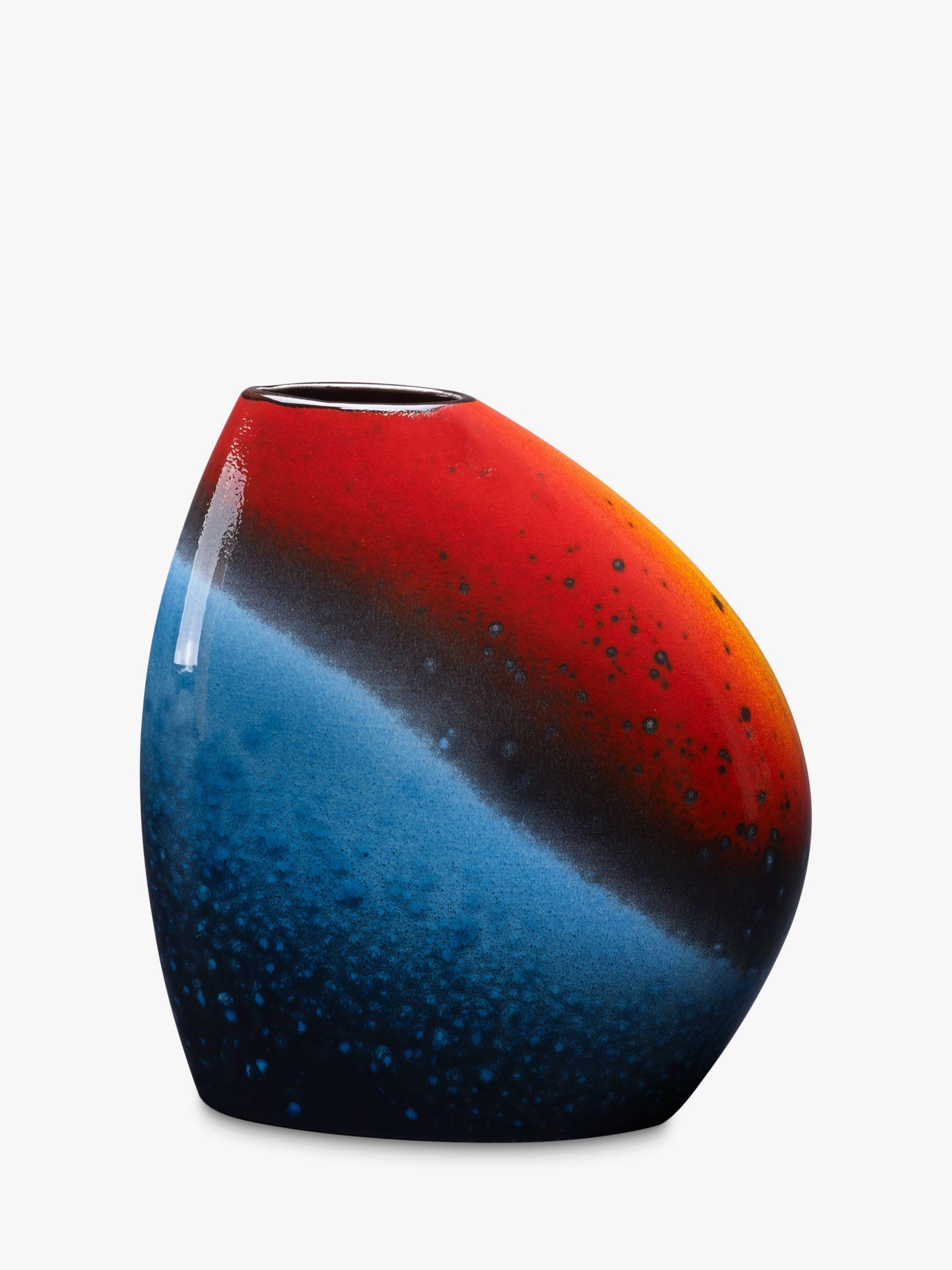 Poole Pottery Poole Pottery Flare Asymmetrical Bean Vase, H19cm