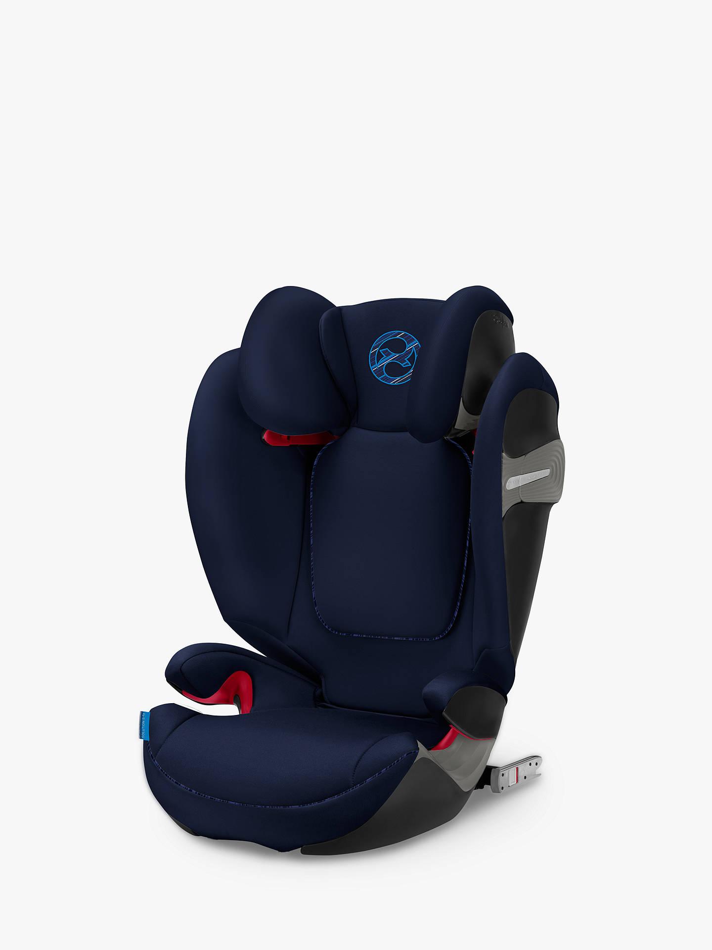 Cybex Solution S-Fix Group 2/3 Car Seat, Indigo Blue