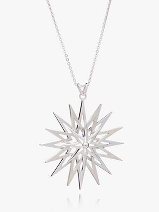 Rachel Jackson London Art Deco Rock Star Pendant Necklace, Silver