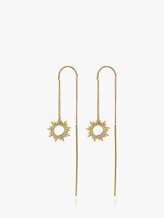 Rachel Jackson London Sunray Thread Chain Drop Earrings